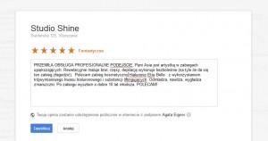 reklama w internecie jak dodac opinie do strony firmy na mapach Google opinia poradnik 4