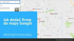 Jak dodać firmę do map Google kartka