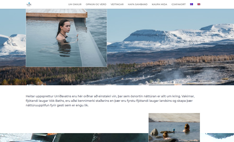 wykonanie strony internetowej. Przykład realizacji. Vök Baths