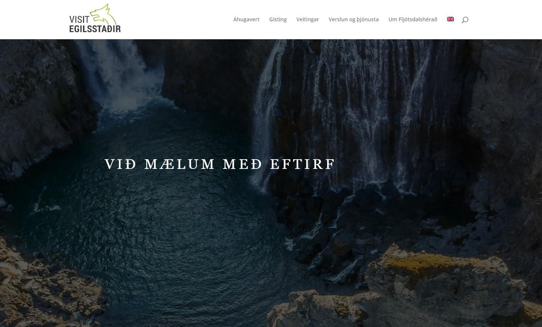 Wykonanie strony internetowej. Przykład realizacji. Visitegilsstadir