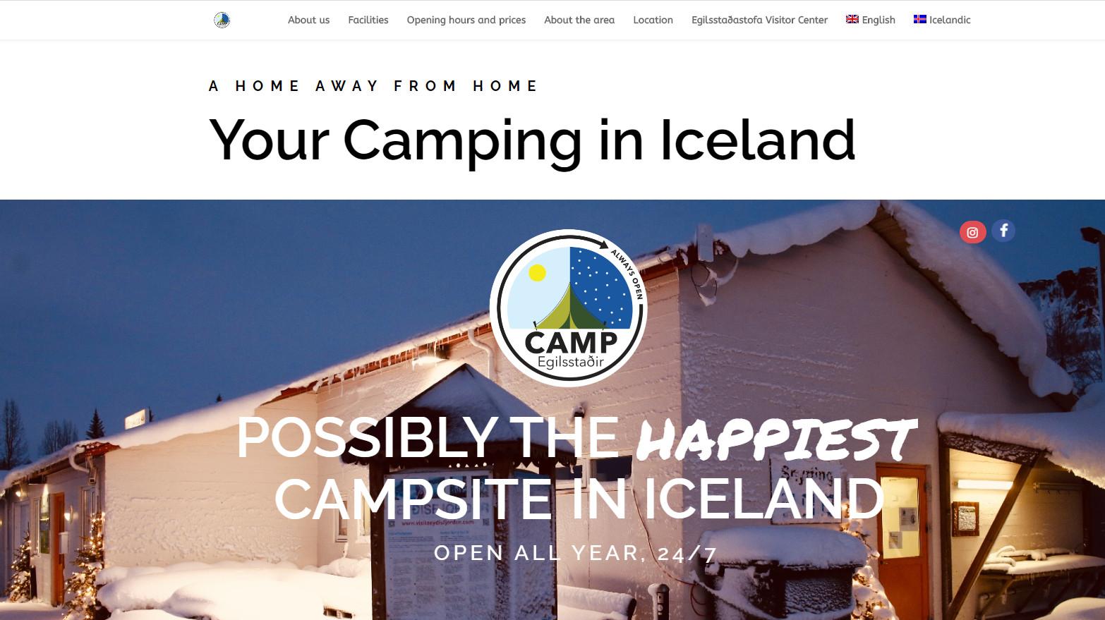 Wykonanie strony internetowej. Przykład realizacji. Campegilsstadir